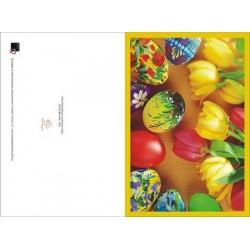Kolorowe pisanki z tulipanami